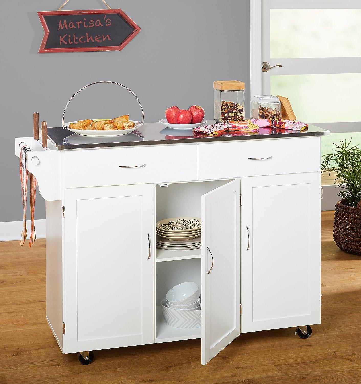 Amazon.com - Target Marketing Systems 60049WHT Kitchen XL Cart, X ...