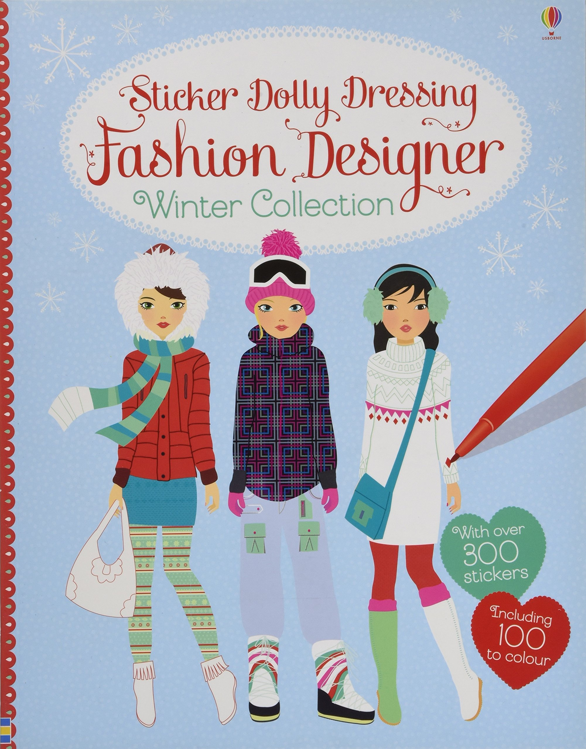 Sticker Dolly Dressing Fashion Designer Winter Collection Amazon Co Uk Fiona Watt Stella Baggott 9781409570561 Books