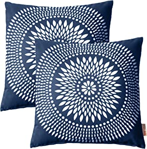 Modway Outdoor Indoor Two All Weather Patio Throw Pillows in Cartouche