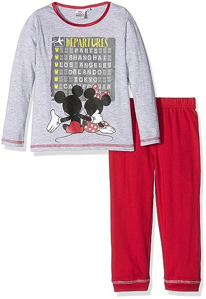 Disney Minnie Mouse, Pijama para Niñas, Gris (L Grey), 6 años