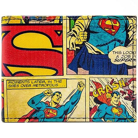 Cartera de DC Comics Superman cómica temáticas rojo