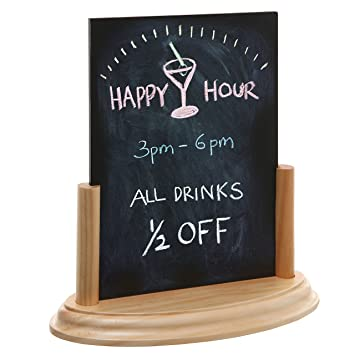 8 Inch Small Tabletop Chalkboard Easel Sign With Removable Wood Display  Stand