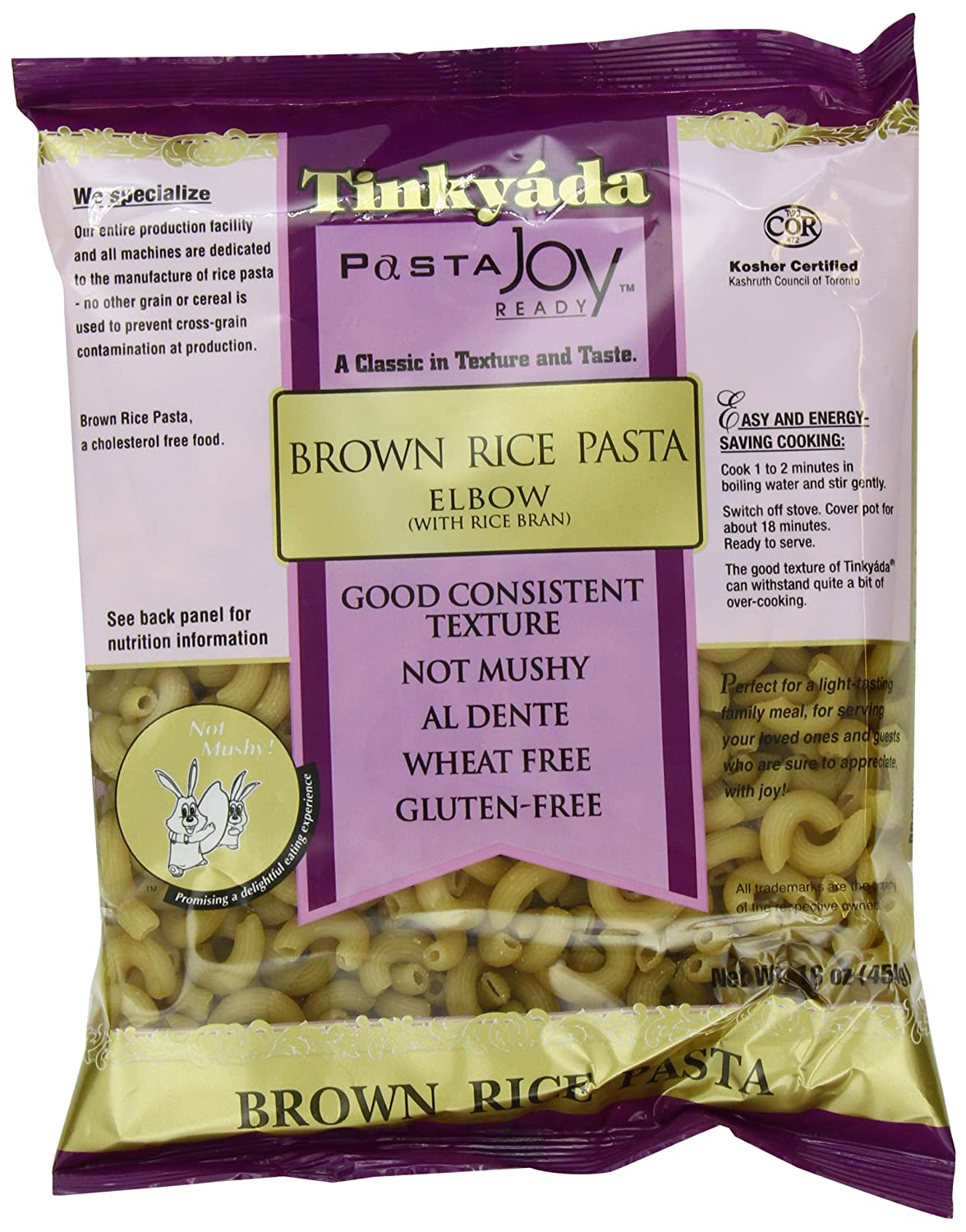 Amazon : Tinkyada Brown Rice Pasta, Elbows, 16 Ounce (pack Of 12) :  Italian Pasta : Grocery & Gourmet Food