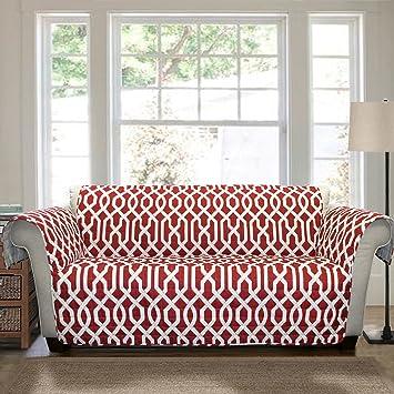 Amazon.com: Lush Decor Edward Trellis Furniture Protector, Loveseat ...