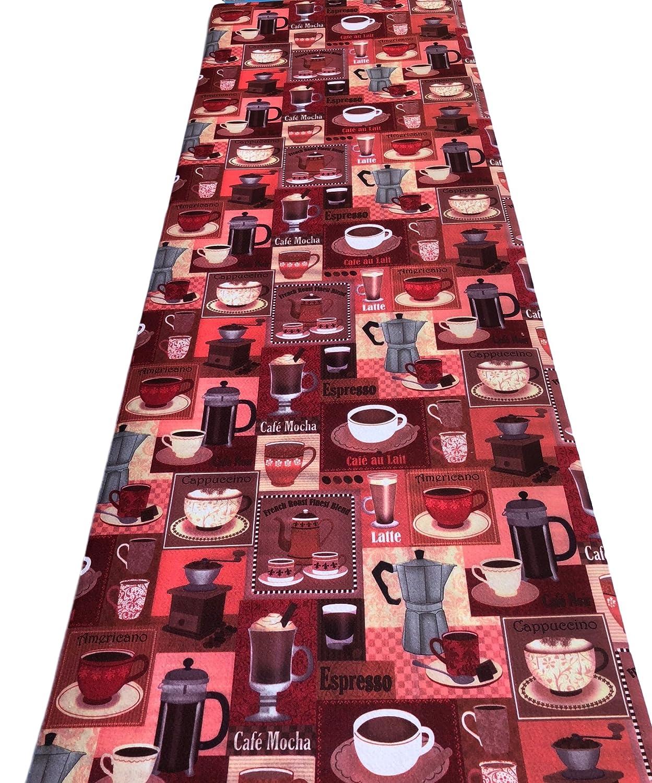 Tappeto passatoia fantasia espresso cucina antiscivolo lavabile varie misure - Fantasia - 50 x 250 cm Il Gruppone