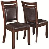 Coaster 105472 Home Furnishings Side Chair (Set of 2), Dark Brown