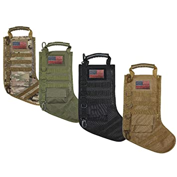 Tactical Christmas Stocking.Tactical Christmas Stocking With Molle Gear Black