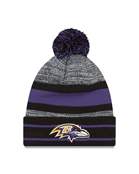 8b4bf9de4 Amazon.com   New Era NFL Baltimore Ravens Pom Knit Beanie