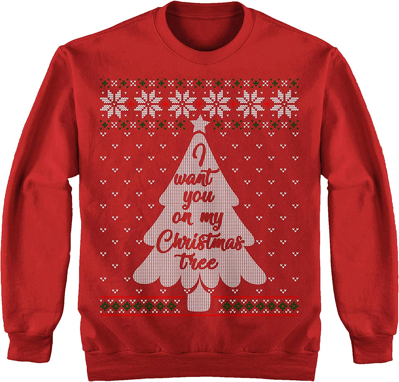 I Want You On My Christmas Tree Ugly Sweater Shirt Noel Merry Xmas Sweatshirt At Amazon Men S Clothing Store
