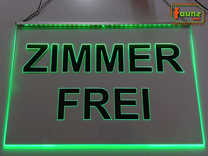 libre de habitaciones Negro LED Cartel de laminado verde o ...