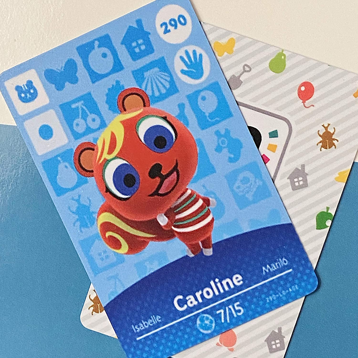 BestTom No.290 Caroline ACNH Animal Villager Card Fan Made.Third Party NFC Card Bank Card Size Water Resistant for Switch/Switch Lite/Wii U