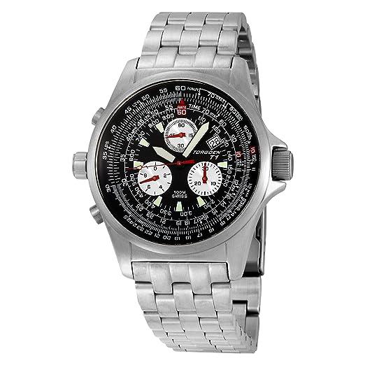 ca3d6c31d78 Torgoen Swiss Men s T01201 Chronograph Pilot Computer Stainless Steel Watch   Amazon.in  Watches
