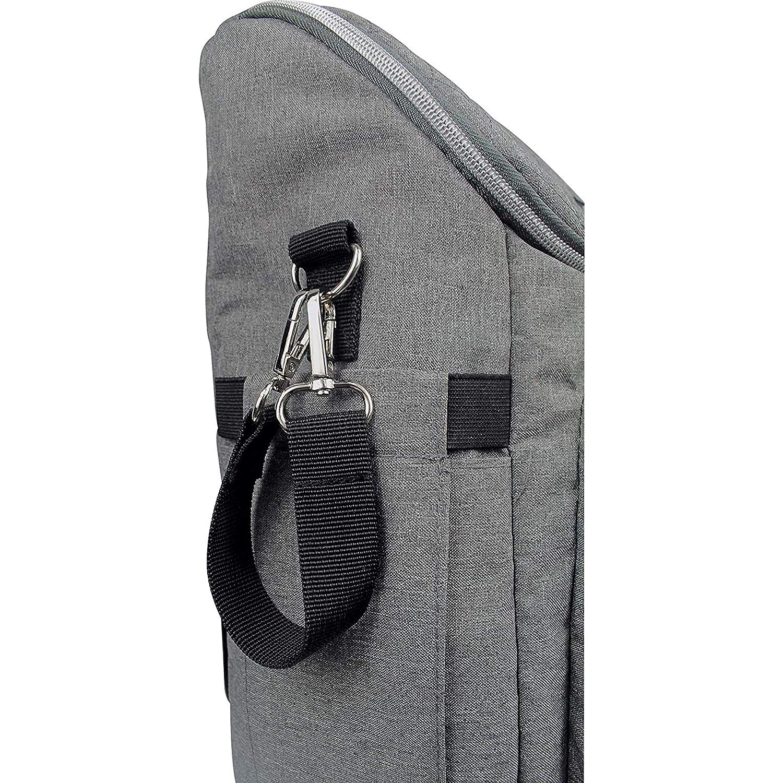 Grau Melange Dooky Wickeltasche 2 in 1 Universal Baby Kinderwagen Tasche Rucksack Kombination mit Rei/ßverschluss inkl. Wickelauflage//Wickelunterlage, 11 F/ächer, verstellbare Riemen