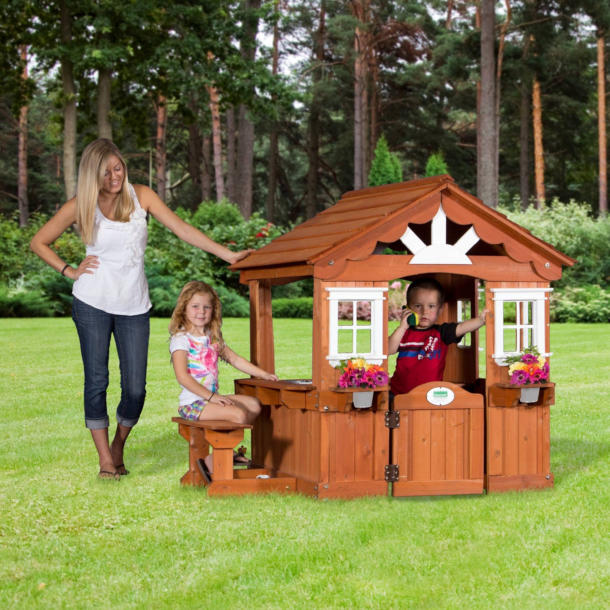 Backyard Discovery Scenic All Cedar Outdoor Wooden Playhouse by Backyard Discovery (Image #4)