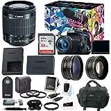 Canon EOS Rebel T6i DSLR Video Creator Kit w/18-55mm, Rode VIDEOMIC GO, 32GB SD Card, Supreme Accessory Bundle