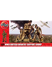 Hornby Airfix A04710 WWII British Infantry Support Set 1:32 Scale Military Series 3 Figures