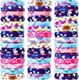 48 Pieces Lovely Thick Cotton Hair Bands Ponytail Holder No Crease Elastic Bands Seamless Multicolor Hair Ties for Women Girls Hair Accessories, 8 Styles