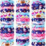 48 Pieces Lovely Thick Cotton Hair Bands Ponytail Holder No Crease Elastic Bands Seamless Multicolor Hair Ties for Women…