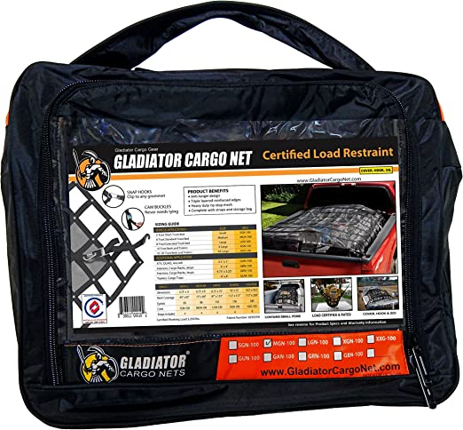 for 6x12 ft Trailers Gladiator Trailer Cargo Net Heavy Duty Trailer Cargo Net - - 7.3 x 13.3 MUT-100