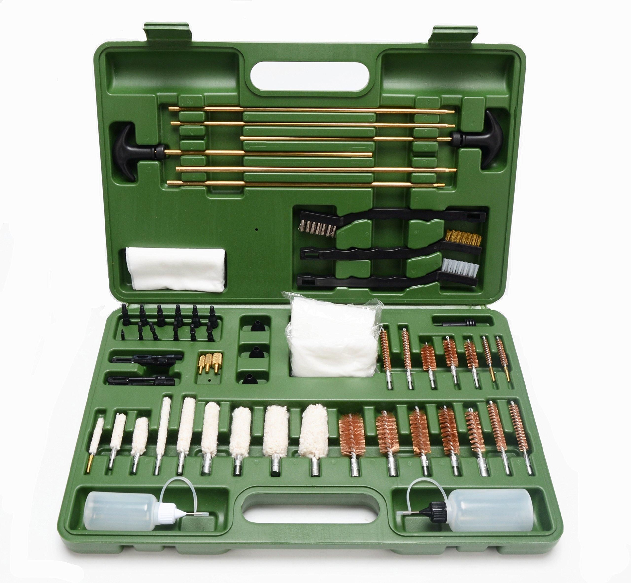 FIREGEAR Gun Cleaning Kit Universal Supplies for Hunting Rilfe Handgun Shot Gun Cleaning Kit for All Guns with Case by FIREGEAR