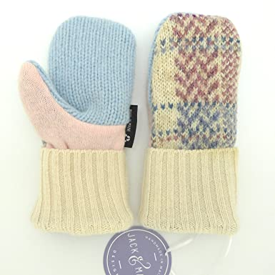 e5d31835e Jack & Mary Designs Handmade Kids Fleece-Lined Wool Mittens, Made from  Recycled Sweaters