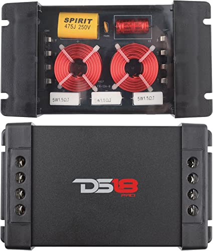 DS18 Pro-CFX Two Way Passive Car Stereo Audio 2 Pack Speaker//Tweeter Crossovers