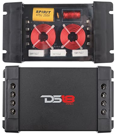 2 Pack DS18 PRO-CFX Two-Way Passive Crossover 300W Car Audio Tweeter Mid Range Speaker