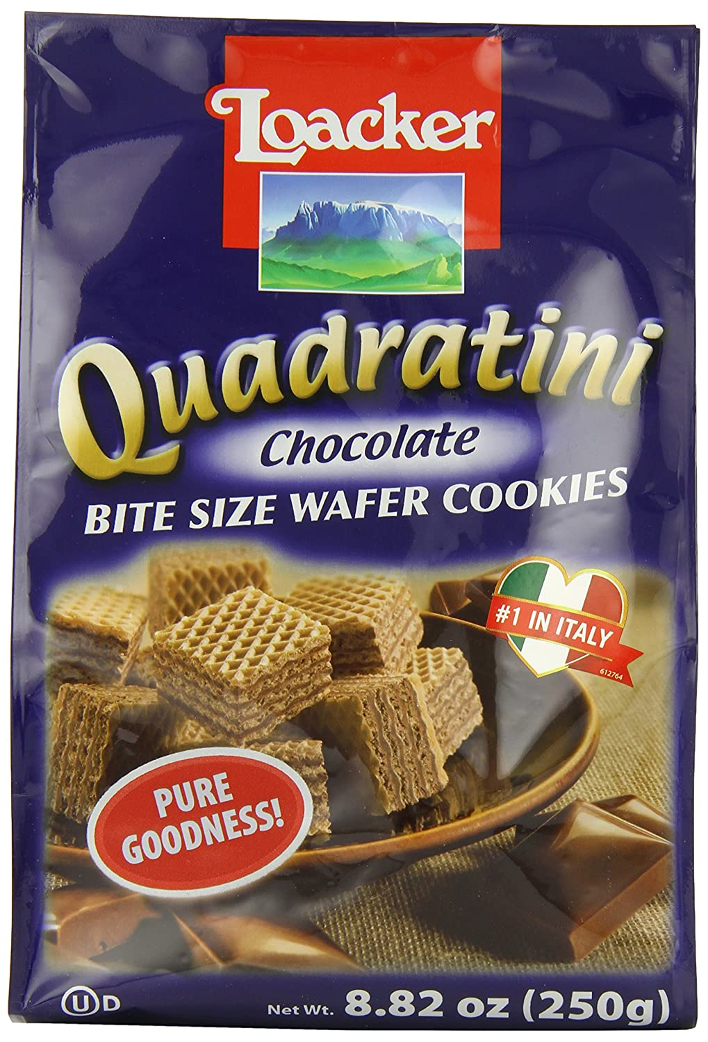 Amazon.com: Loacker Quadratini Chocolate Wafer Cookies, 8.82-Ounce ...