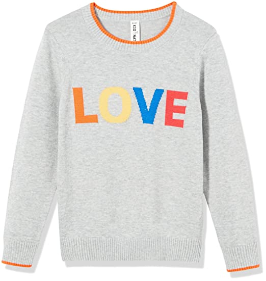 4c7e95482 Amazon.com  Kid Nation Girls  Long Sleeve Pullover Intarsia Jacquard ...