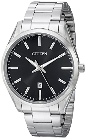 Amazon.com  Citizen Men s Quartz Stainless Steel Watch with Date ... 002edbd410a8