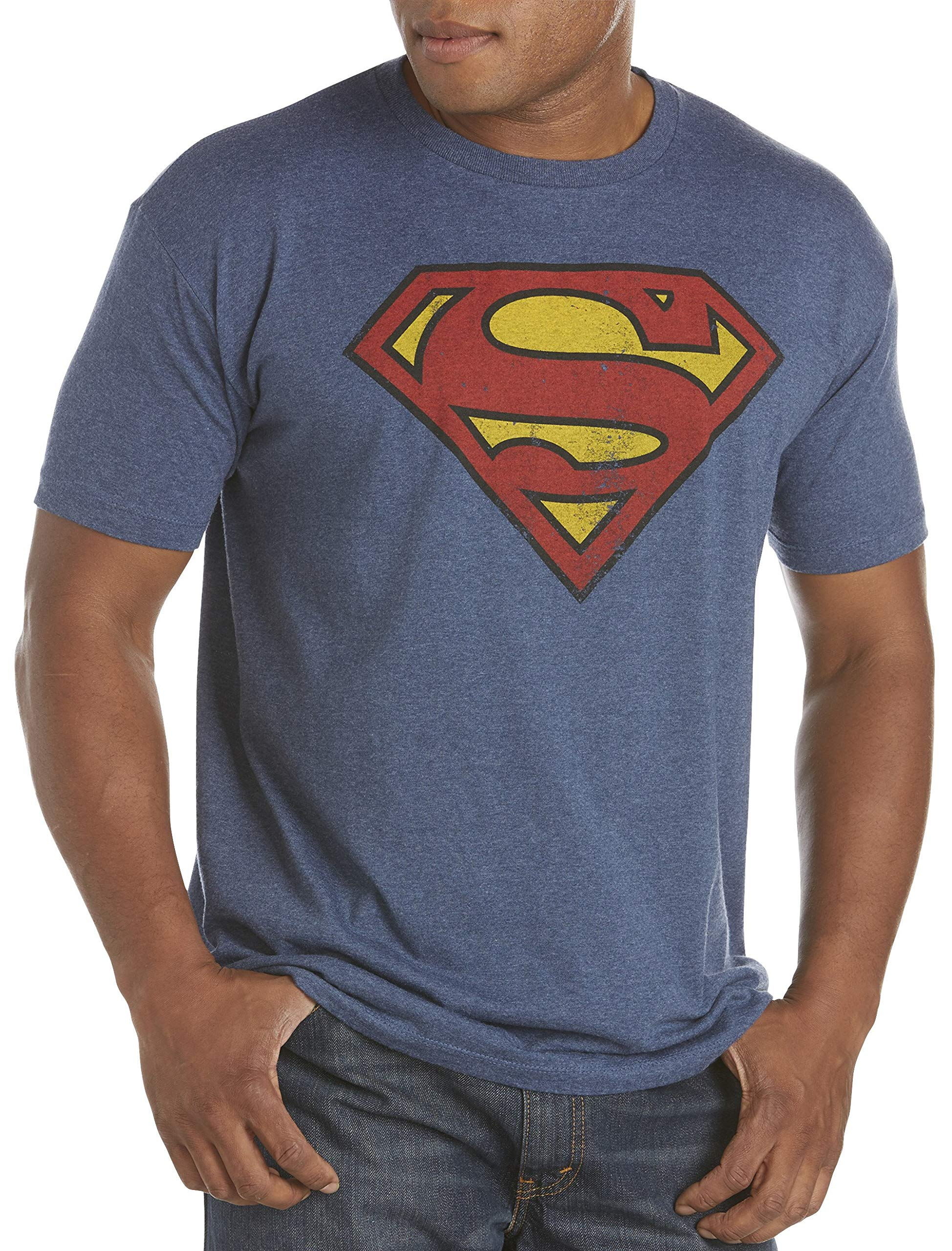 True Nation by DXL Big and Tall Classic Superman Logo Graphic Tee