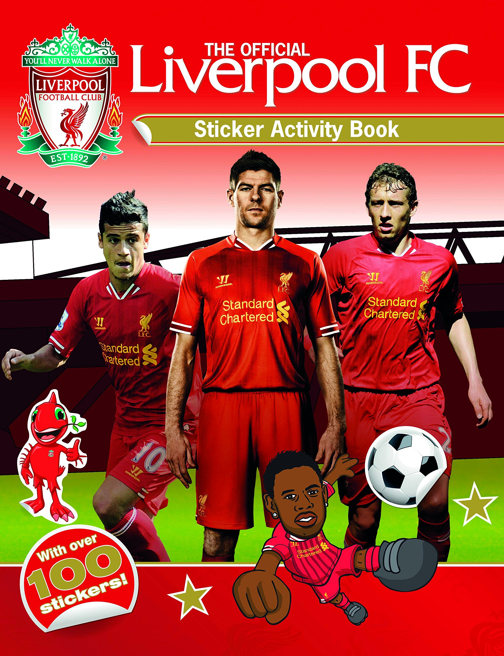 The official liverpool fc sticker activity book paperback 10 oct 2013