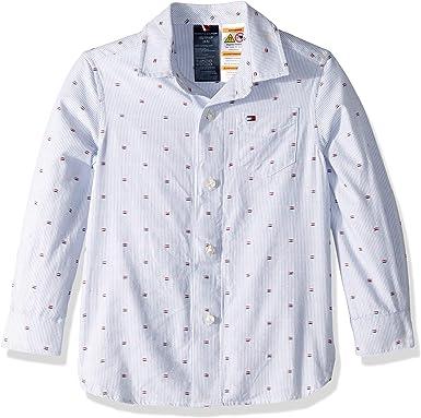 Tommy Hilfiger Adaptive Niños 7183947 Manga Larga Camisa de Botones - Blanco - Medium: Amazon.es: Ropa y accesorios