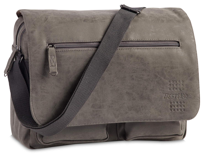 37 cm dunkelgrau Bestway Bestway Freizeittasche Messenger Bag Grey