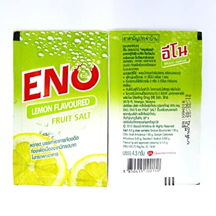 ENO Fruit Salt GSK Fast Refreshing Relief From Stomach Upset Gastrointestinal Health Treat Symptoms of Heartburn