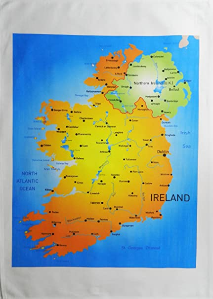 Ireland And Northern Ireland Map.Half A Donkey Colourful Map Of Ireland And Northern Ireland Large