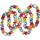 50 Colliers de Fleurs Hawaïennes Tropical par Kurtzy - Large Lots de Colliers - Costume Hawai Floral Accessoires parfaits pour Anniversaires à thème, Déguisements et Mariages.