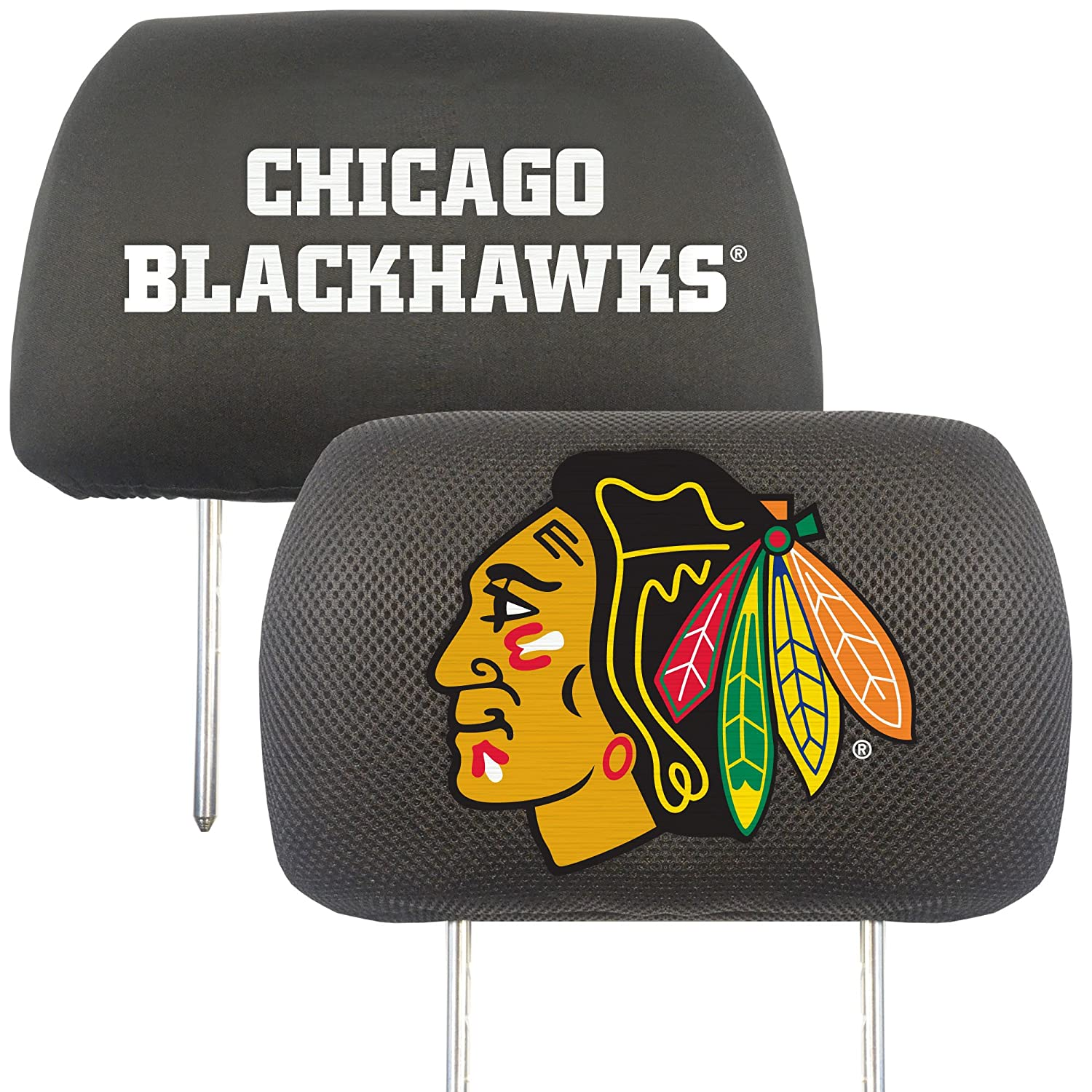 FANMATS NHL Chicago Blackhawks Polyester Head Rest Cover