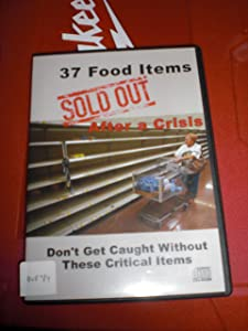 37 Food Items Sold Out After a Crisis CD-ROM