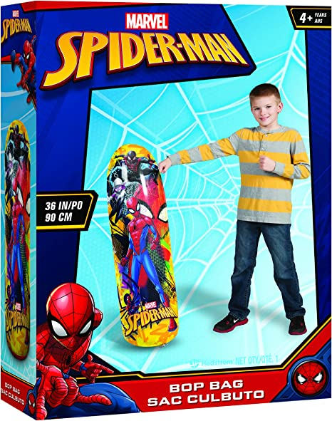Hedstrom inflatable Spiderman Bop Bag Boys Indoor Outdoor Pillow Punching Fight