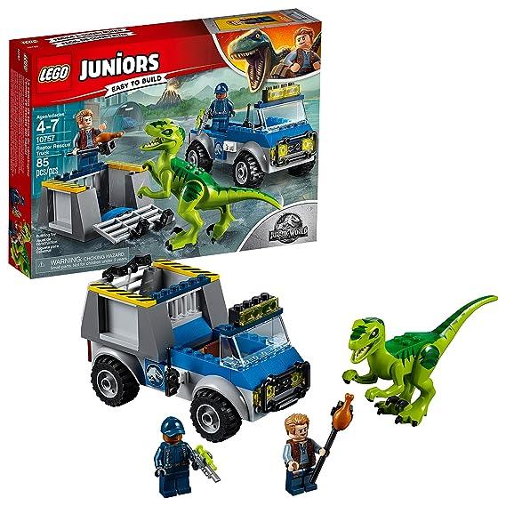 LEGO Juniors/4+ Jurassic World Raptor Rescue Truck 10757 Building Kit (85 Piece)