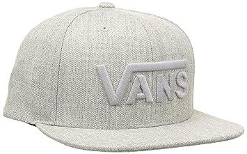 7025d1a4 Vans Men's Drop V Snapback Hat Baseball Cap, Heather Grey, One Size ...