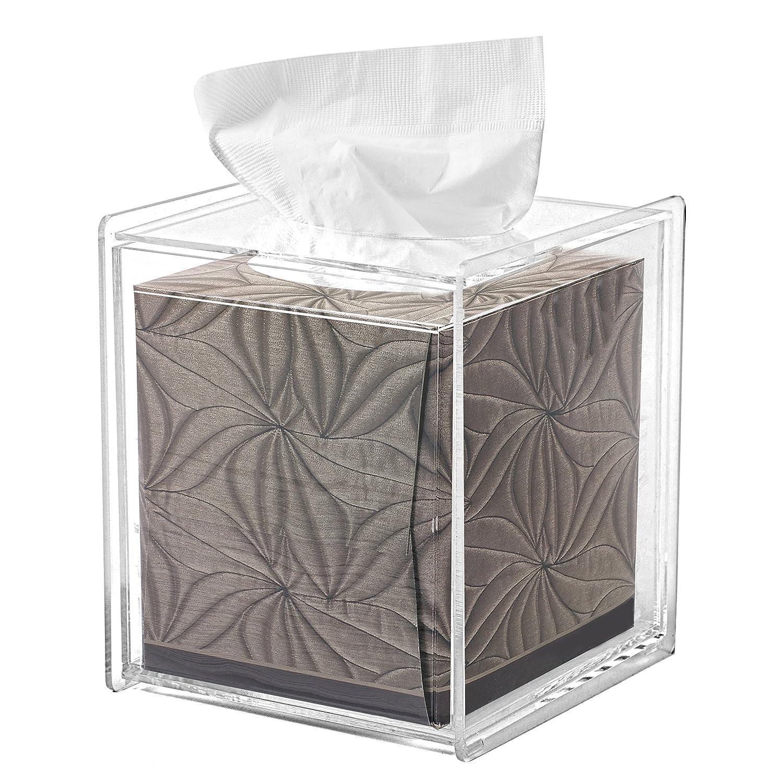 MyGift Square Clear Acrylic Bathroom Tissue Box Cover and Napkin Dispenser Holder COMIN18JU076024
