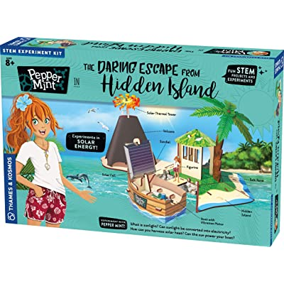 Thames & Kosmos Pepper Mint in The Daring Escape from Hidden Island Story-Based Science Experiment & Model Building Kit & Playset, 7 Building Projects & Experiments in Solar Energy & Power: Toys & Games