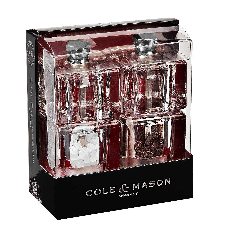 Cole & Mason Precision Grind Mini Cube Pepper Mill, Acrylic/Clear, 9 cm DKB Household UK Ltd H305411
