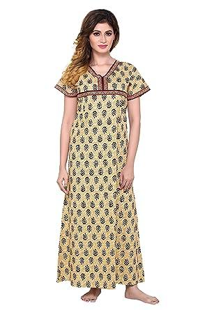 b4e8fc550e PDPM Women s 100% Soft Cotton Nighty Nightwear Night Dress Sleepwear Gown