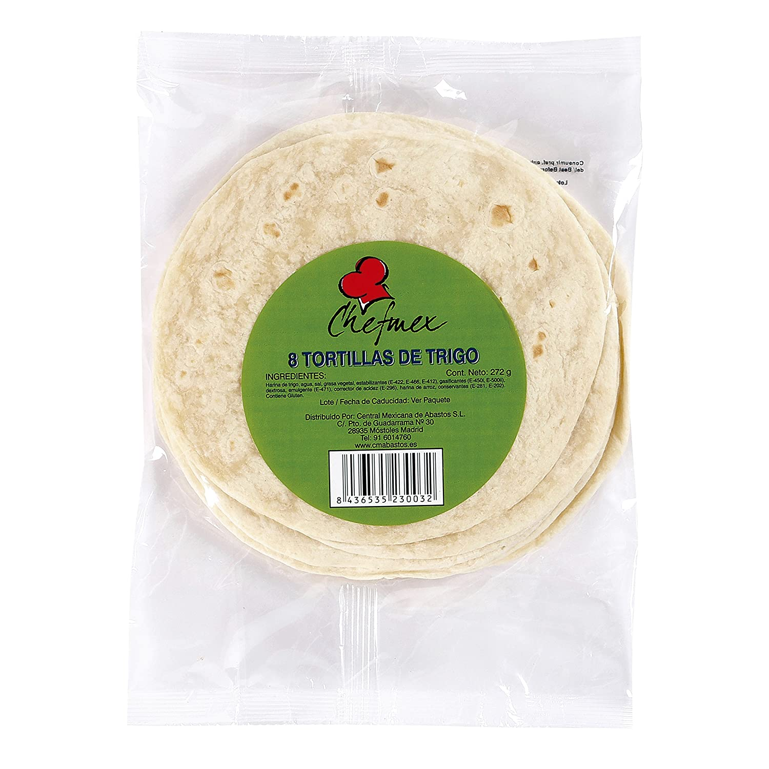 LA COSTEÑA tortilla de trigo bolsa 272 gr: Amazon.es ...