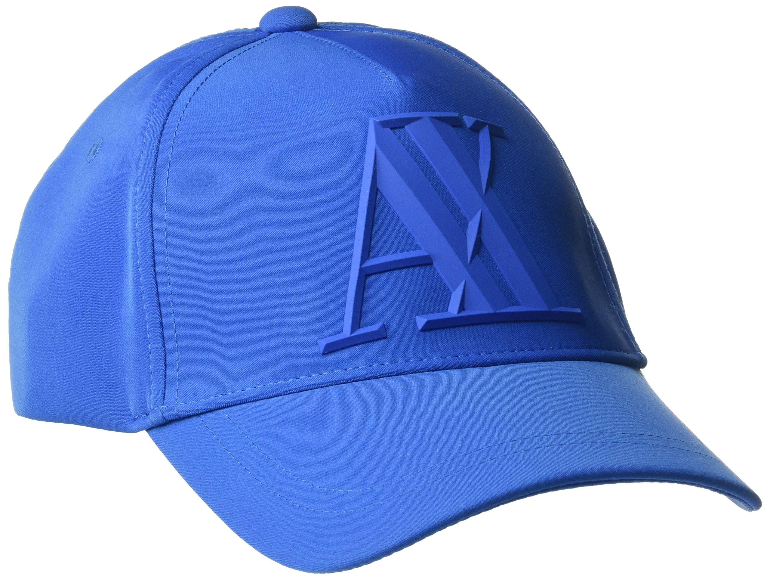 A|X Armani Exchange Men's 3d Rubber AX Tonal Logo, Classic Blue, One Size