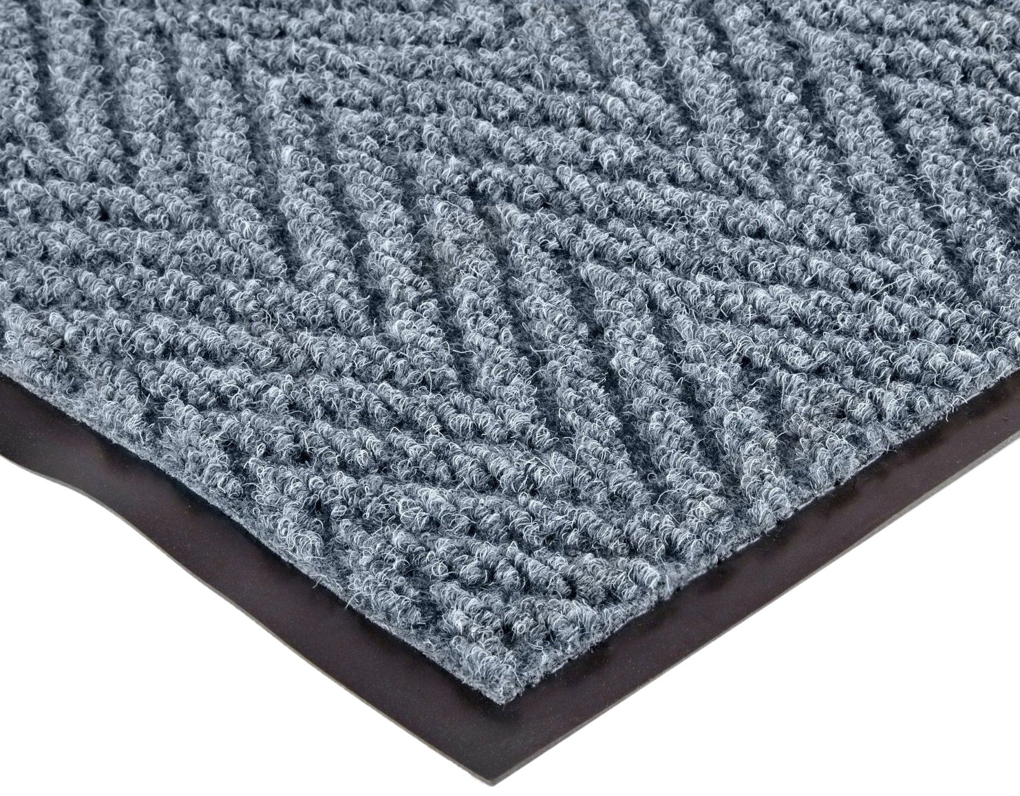 NoTrax 105 Chevron Entrance Mat, for Lobbies and Indoor Entranceways, 4' Width x 8' Length x 5/16'' Thickness, Slate Blue