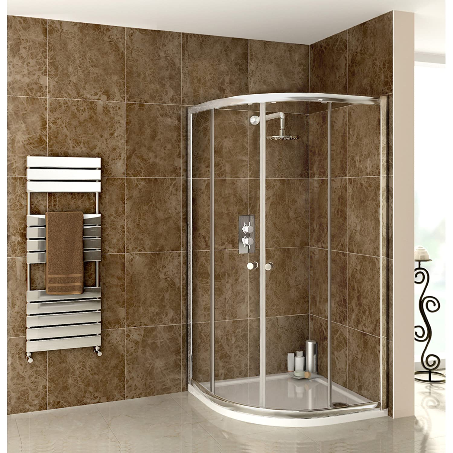 900 X 900 QUADRANT SHOWER ENCLOSURE GLASS DOOR: Amazon.co.uk: DIY ...